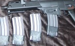 Set of 5 Mid-Cap 100 BB Magazines for M4/M16 - Grey