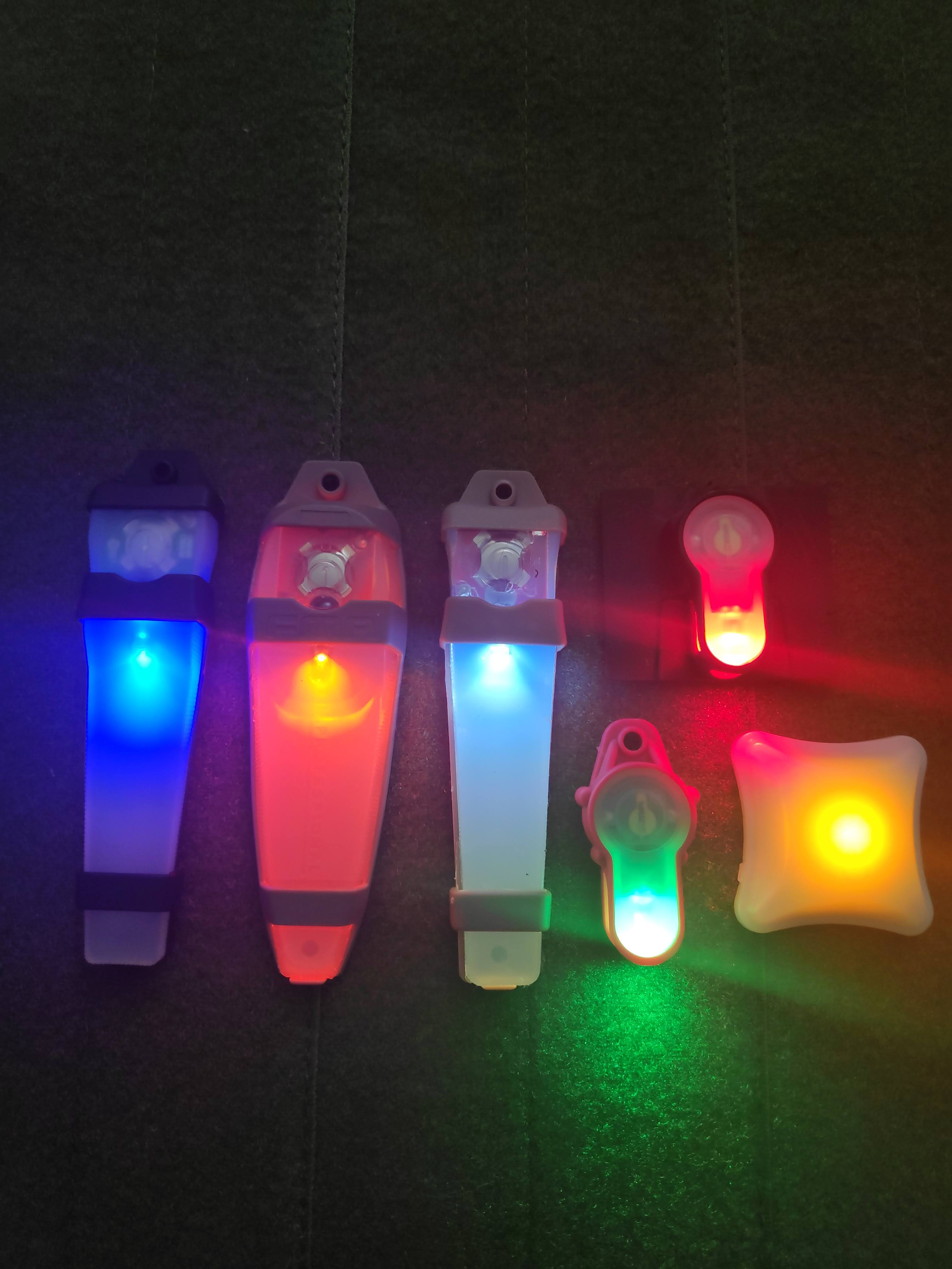 electronic markers and lights