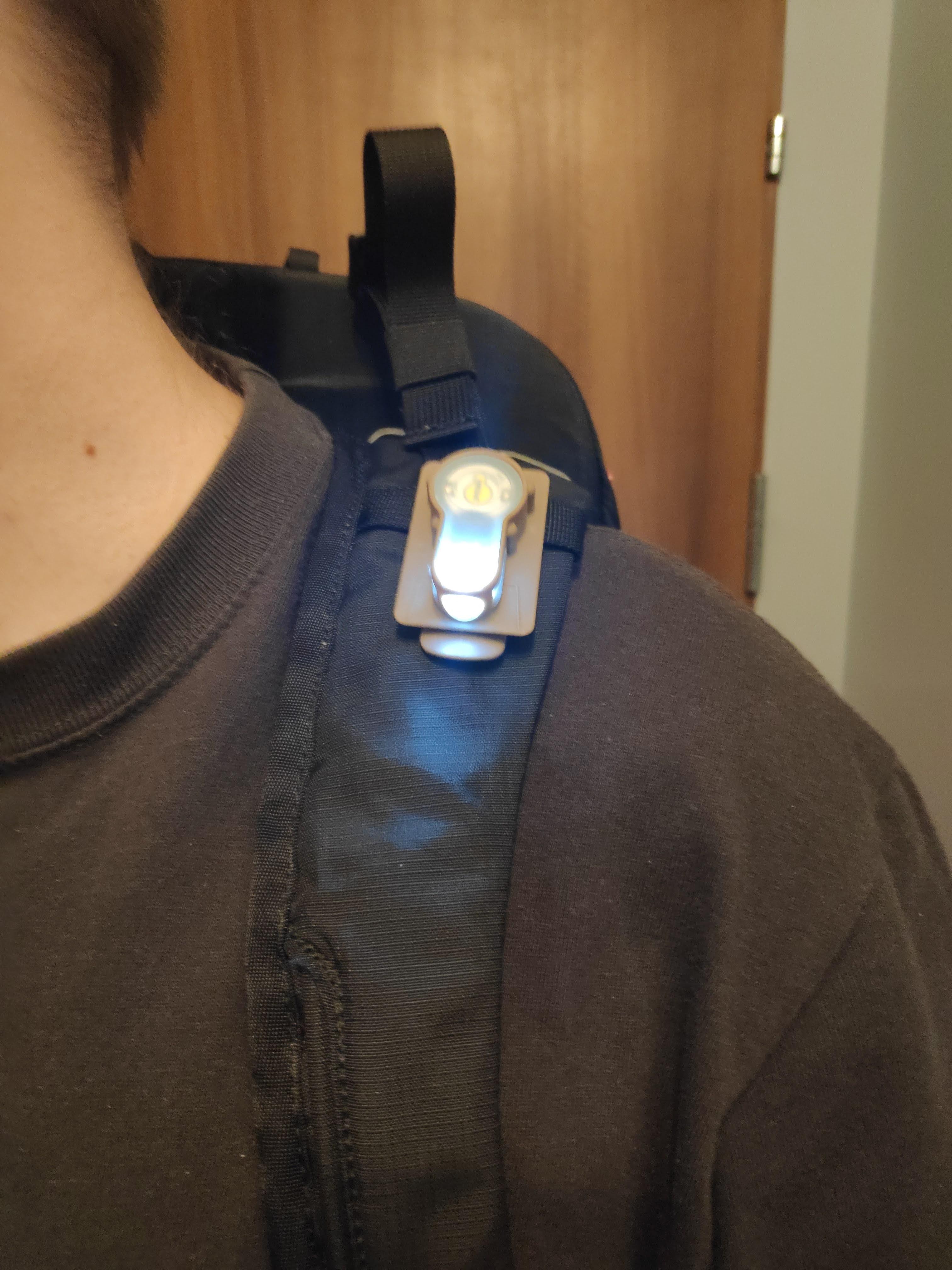 electronic marker on a waist bag