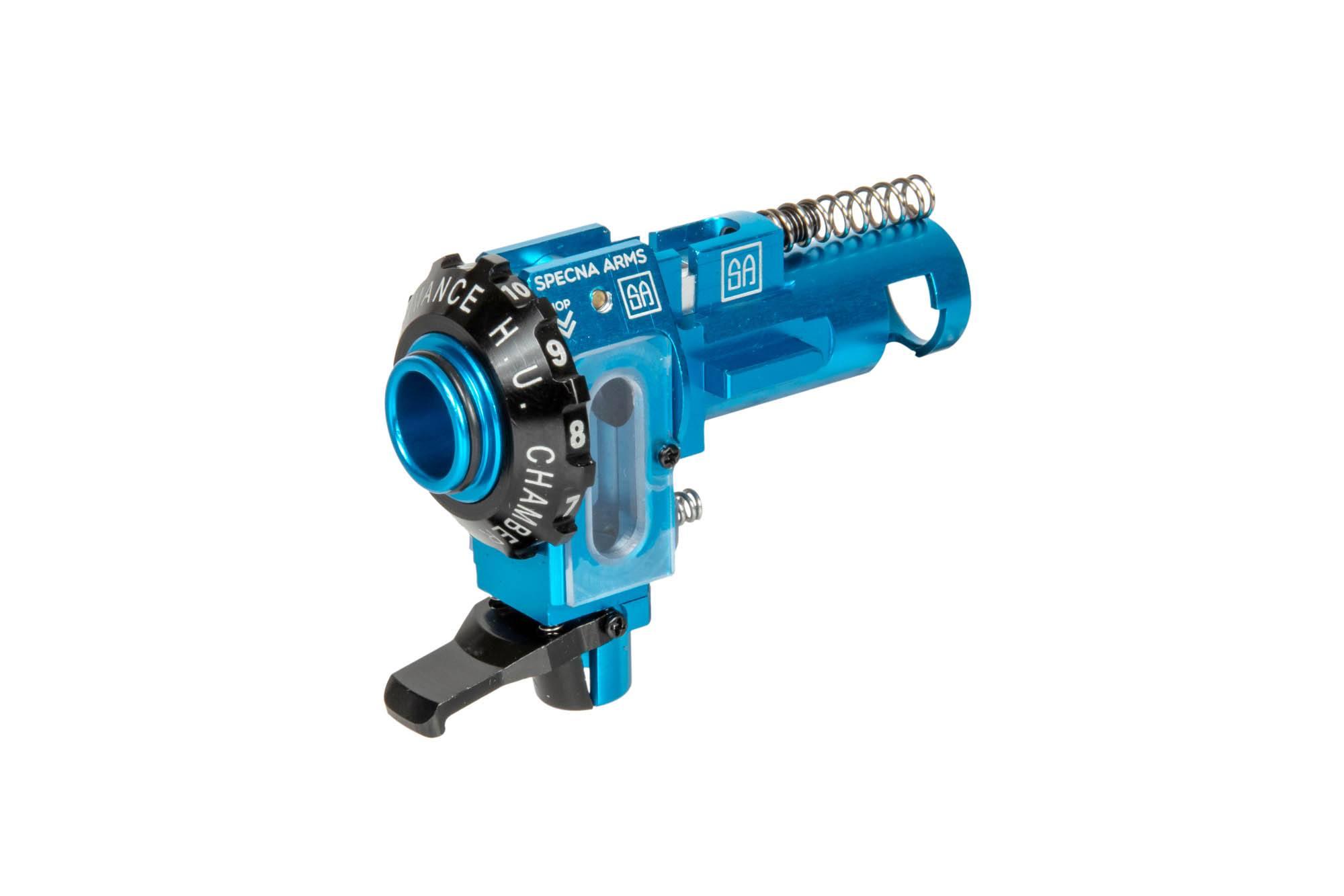 komora hop-up do repliki airsoft; niebieska; maxx model i specna arms